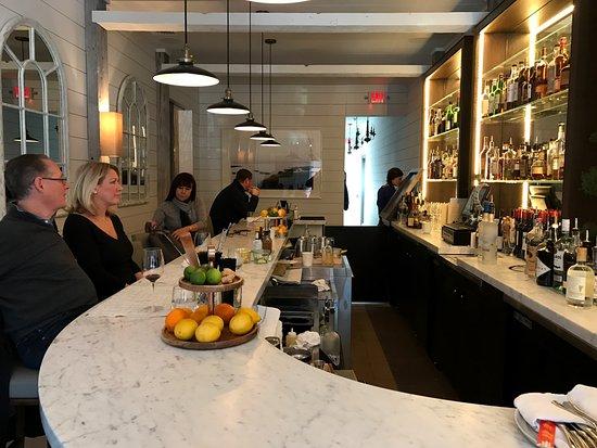 Westport, CT: The bar at Cottage.