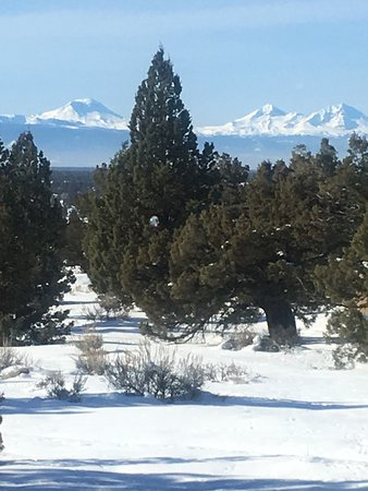 "Powell Butte, Oregón: We are here after an unusually heavy snowstorm.  Views from all the ""cabins"" are beautiful."