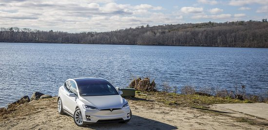 Westborough, MA: GSD Rides 2016 Tesla Model X P90DL. Tesla Rental Boston Photoshoot. Long shot