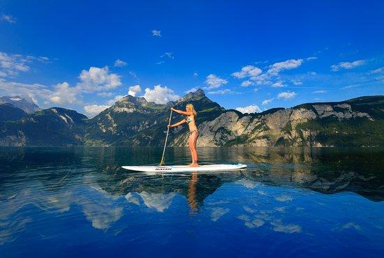 Fluelen, Switzerland: SUP Urnersee