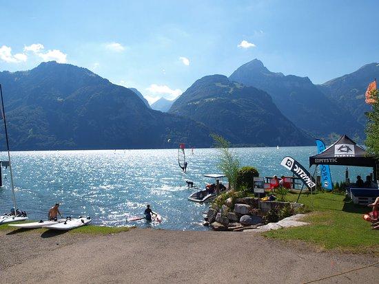 Fluelen, Switzerland: Beachlife
