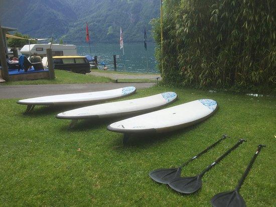 Fluelen, Switzerland: SUP Kurse und Vermietung