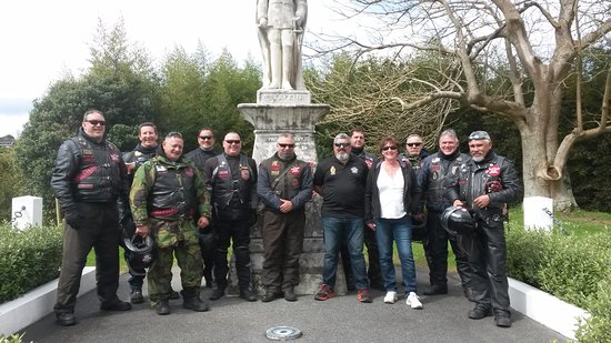 Matakana, Nowa Zelandia: NZ Patriots Motorcycle Club Visit - September 2015