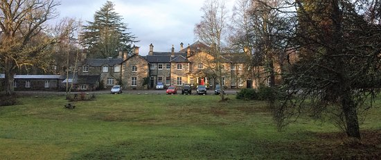 Contin, UK: View of the rear of the mansion. There are beautiful grounds to the front