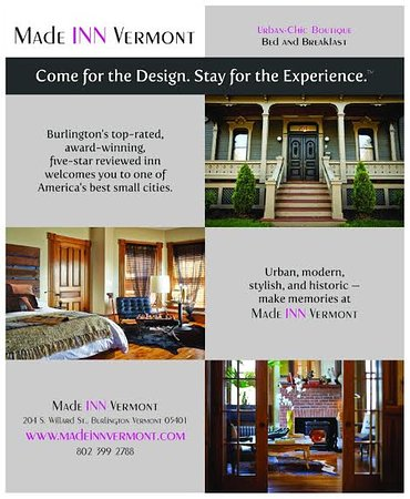 Made Inn Vermont An Urban Chic Boutique Bed And Breakfast Burlington Lodging