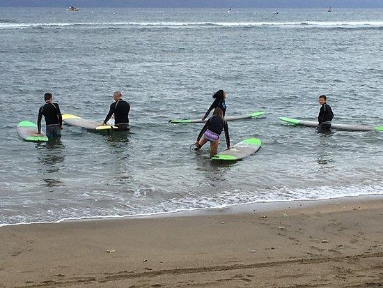 Wailuku, HI: Entering the water for an amzaing surf session.