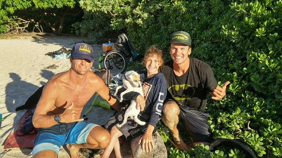 Makawao, HI: Adaptive tandem kiting! Ava has spinal bifida but we took her out of the chair for a nice ride!