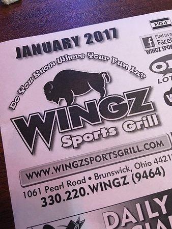 บรันสวิก, โอไฮโอ: Wingz Sports Grill