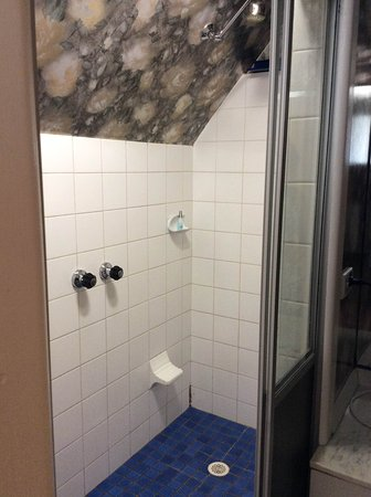 Nundle, Australia: Shower cant stand up in if 6ft tall ( 1.8m)