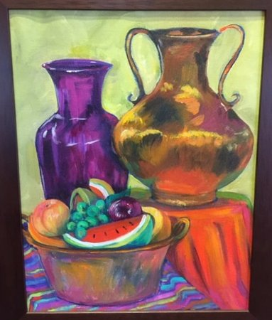 Goliad, TX: Still life by Rockport, Texas artist Betty Shamel
