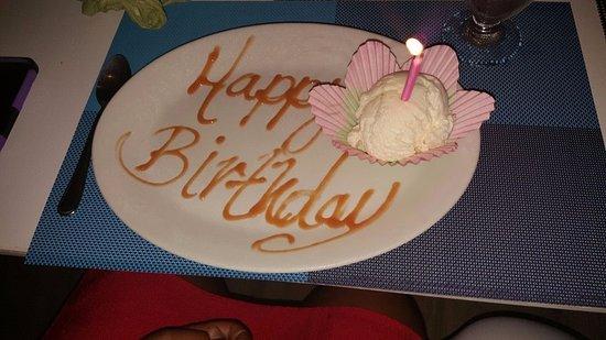 Worthing, Barbados: Birthday Dessert