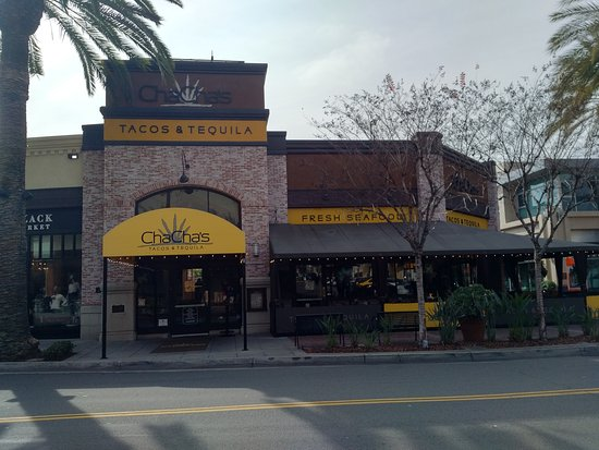 Exterior of Cha Cha's Latin Kitchen in Brea, CA