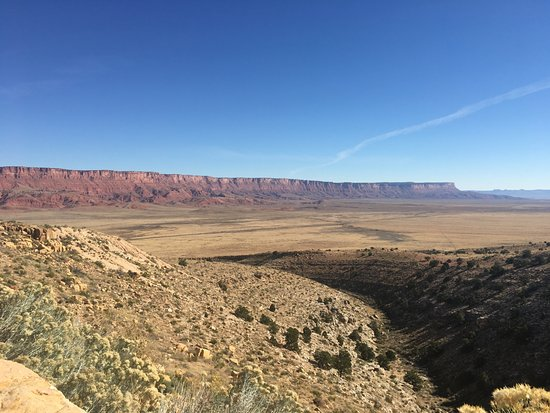 Boulder, UT: Vermillion Cliffs from a scenic overlook on US-89A.