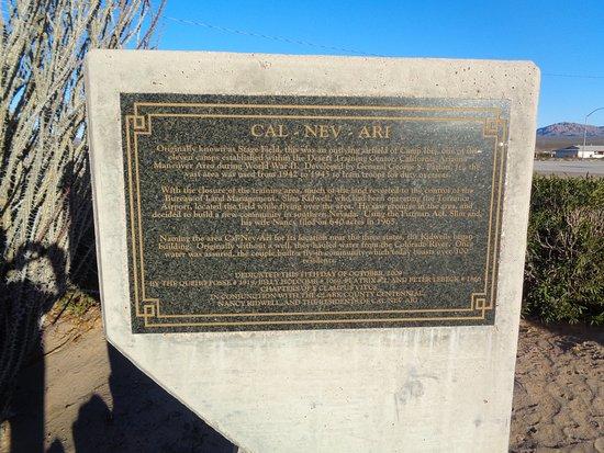 Cal Nev Ari, Νεβάδα: Plaque