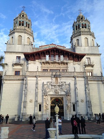 Hearst Castle: The front entrance of the main house.
