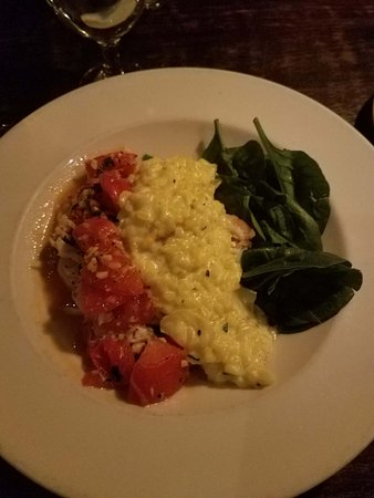 Tin Angel : Shrimp and risotto