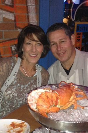 Saint Charles, MO: My Husband & I enjoying the Seafood Tower for Two