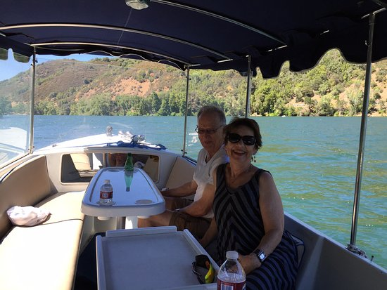 Upper Lake, CA: A few of us out on a boat for a cruise around the lake. Nice way to spend an hour - or more.