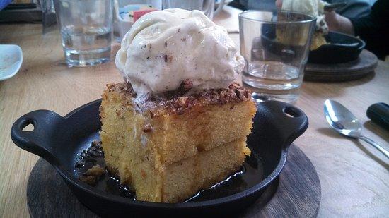 Belmont, CA: spoonbread dessert