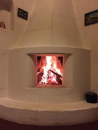 Casa Mojanda: The crackling fire in my adobe house.