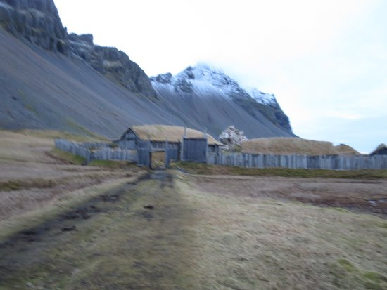 Hofn, Island: Viking Village at base of Vestrahorn