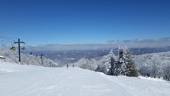 Beech Mountain, NC: View from the middle of the mountain