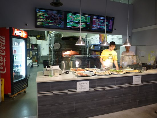New Westminster, Canada: The counter in the restaurant