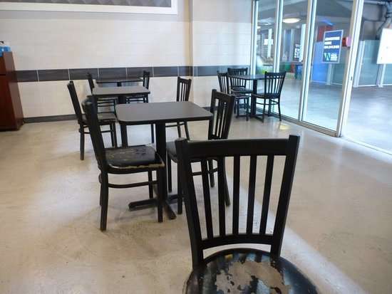 New Westminster, Canada: The seating in the restaurant