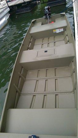 4 person jon boat rental with tiller steer 9 9 four stroke mercury