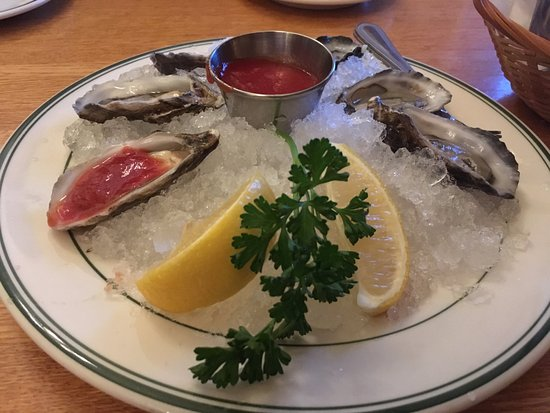 The Dalles, OR: Oysters on a halfshell