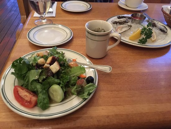 The Dalles, OR: Salad and appetizer.