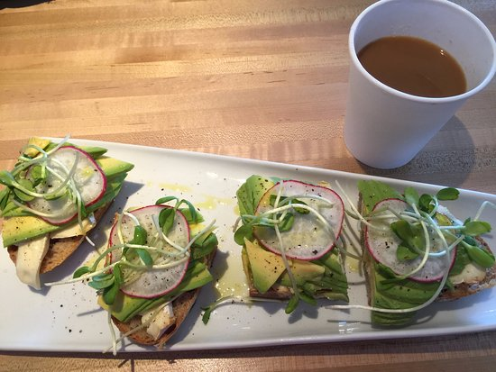 Hanapepe, HI: Avocado and brie sandwich with a great cup of coffee.