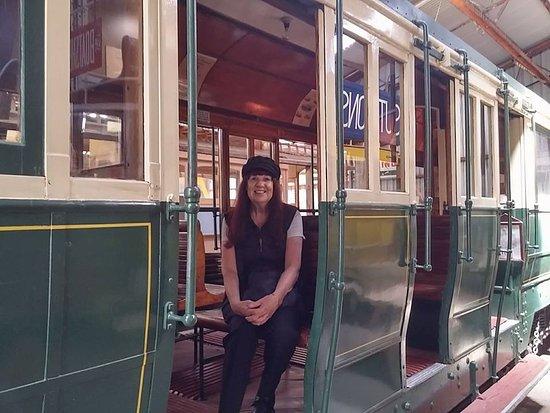 Ballarat, Austrália: Sitting on the tram waiting for the conductor