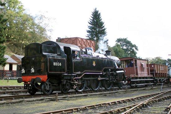 Pickering, UK: Heritage Goods Train Demonstration.