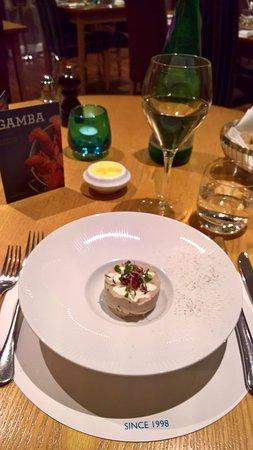 Gamba Seafood Restaurant: Thai mackerel spread, creme fraiche, oatcakes