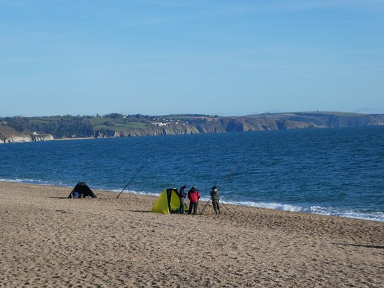 Fishing from Slapton Sands