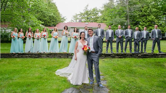 Vergennes, VT: Wedding Party in Front of Greystone