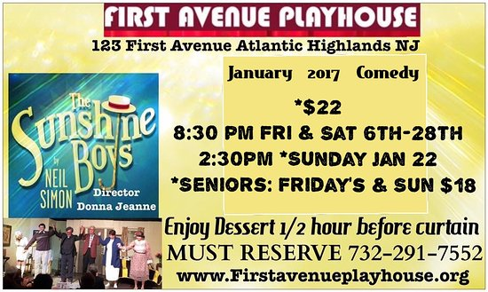 Atlantic Highlands, NJ: Sunday Matinee Jan 22