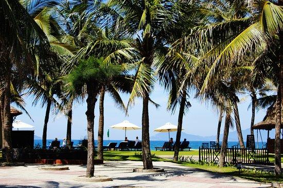 ホテル側からみたプライベートビーチ picture of hoi an beach resort