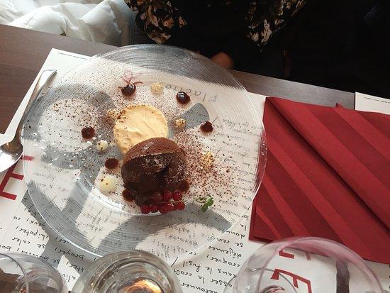 Vercorin, Zwitserland: Moelleux au chocolat