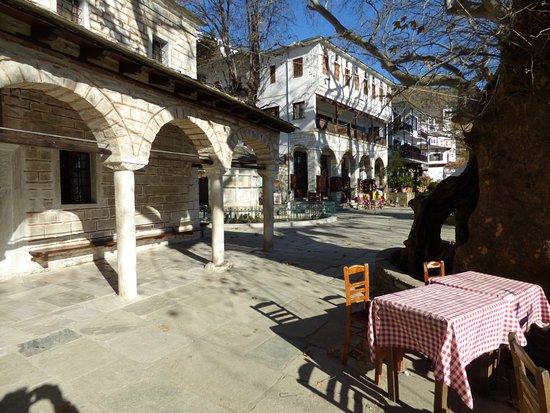 The Makrinitsa Square on Pilion village