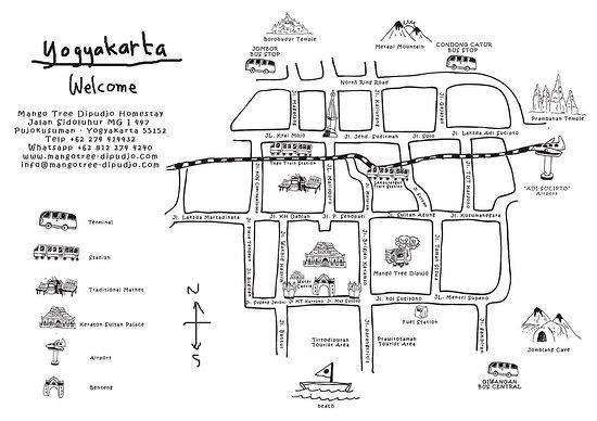 Yogyakartas Art Map Picture Of Mango Tree Dipudjo Homestay - Yogyakarta map
