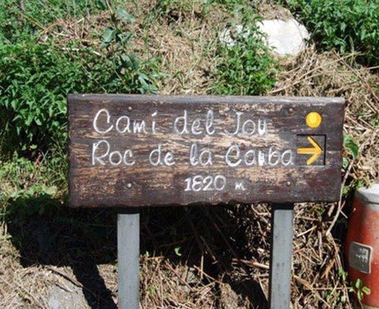 Camí de Jou  - Roc de la Cauba: Camí del Jou  -  Roc de la Cauba