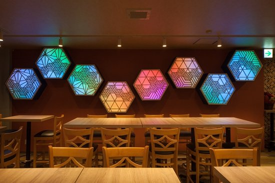 Our hex led light wall feature picture of lbk craft nara lbk craft our hex led light wall feature aloadofball