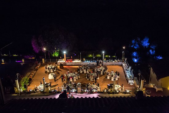 Tavarnelle Val di Pesa, Italy: Panoramic Terrace by night