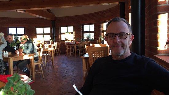 Barton-upon-Humber, UK: enjoying the soup !