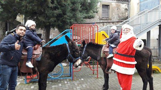 Linguaglossa, Italia: Anche quest'anno etnadonkeytrekking insieme a babbo natale partano un sorriso a tutti i bambini