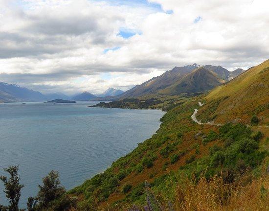 Квинстаун, Новая Зеландия: Queenstown to Glenorchy drive