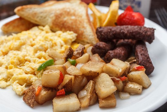 Gretna, LA: Breakfast platter served at the Holiday Inn New Orleans Westbank