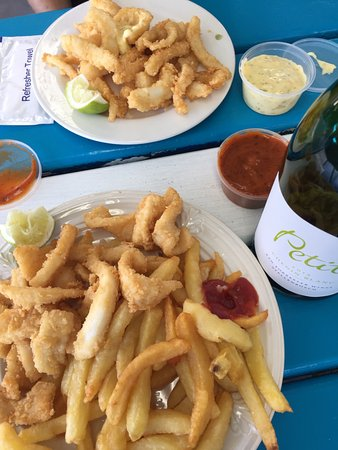 Gordon's Bay, Südafrika: Delicious calamari